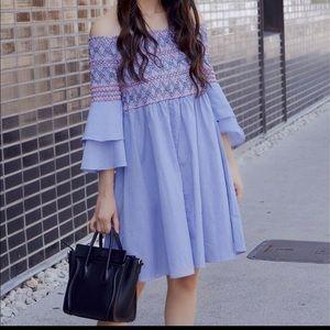 Dresses & Skirts - Off the shoulder smock bell sleeve dress